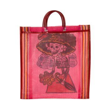 Mexican Catrina bag made of mesh canvas