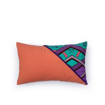 Cojin rectangular tela africana wax