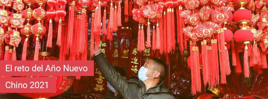 La decoración en rojo para el Año Nuevo Chino 2021
