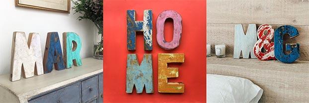 Decora tu casa con letra de madera