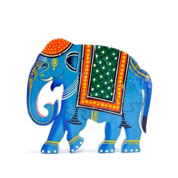 Puzzle de madera con forma de elefante