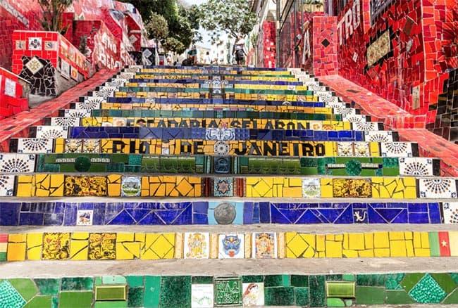 Detalle de la Escadaria Selarón