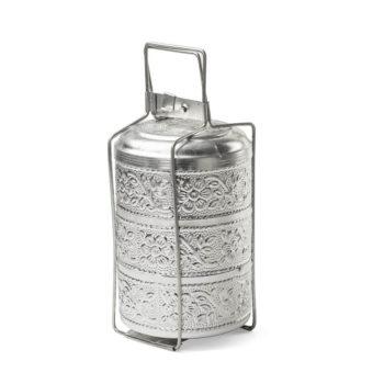 Fiambrera de aluminio al estilo hindú