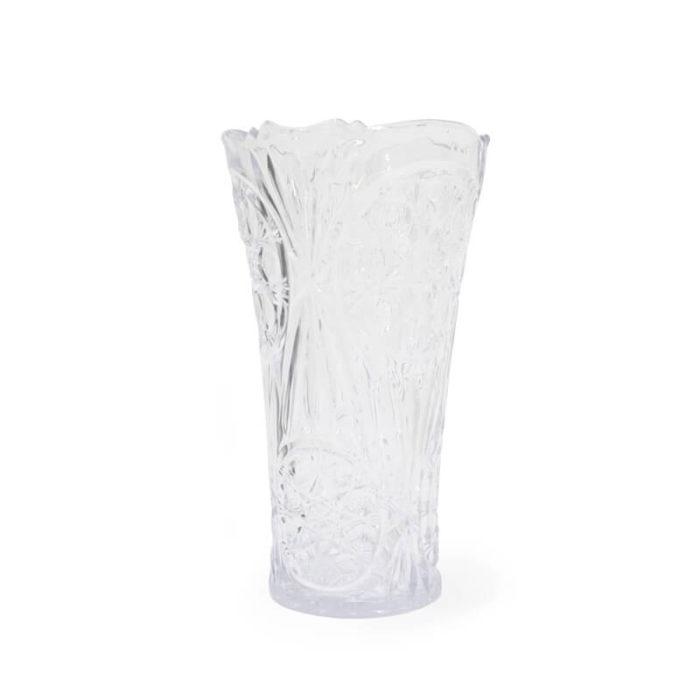 Florero de plástico blanco