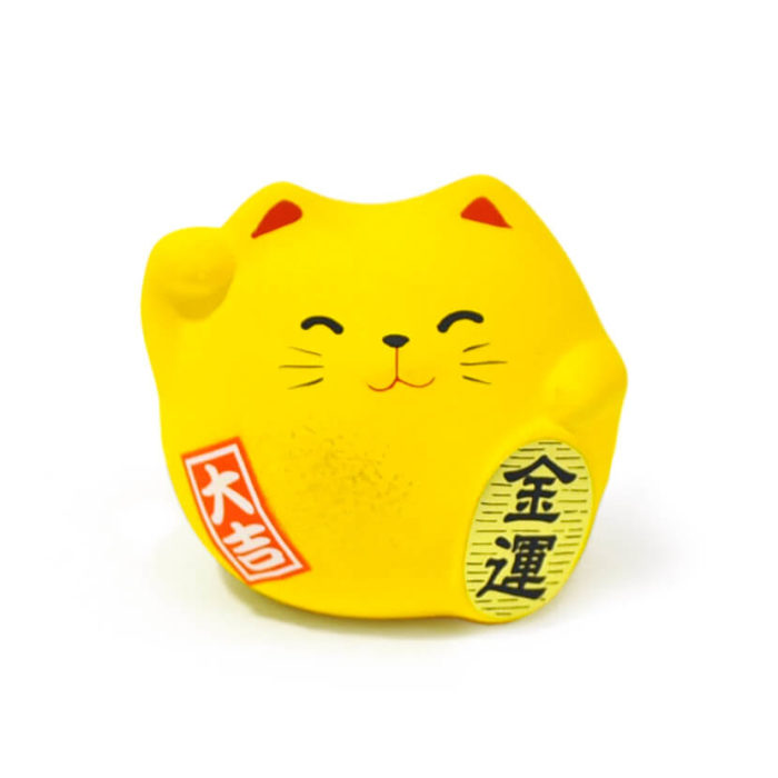 Gato de la suerte color amarillo