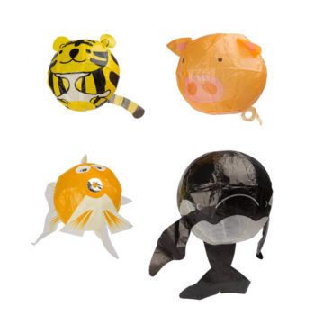 Kamifusen o globos de papel japoneses