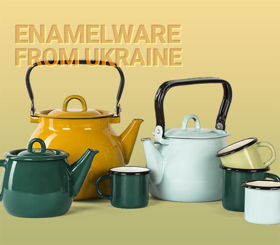 Buy enamelware from Ukraine, good quality and low prices.