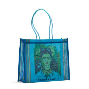Bolsa de tela con dibujo de Frida Kahlo