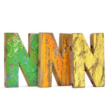 Letras decorativas coloridas