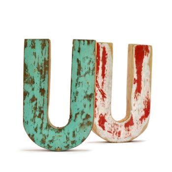 decorar con letras de madera recicladas