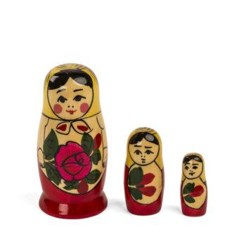Matrioska rusa tradicional 3 piezas