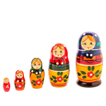 La muñeca matrioska rusa modelo Maidan