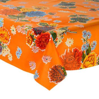 Mantel de hule plástico naranja