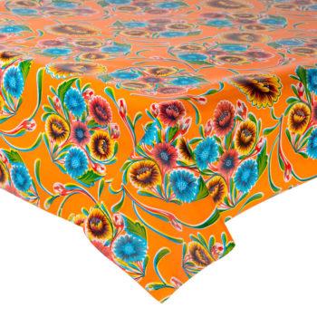 Mantel antimanchas con diseño floral mexicano