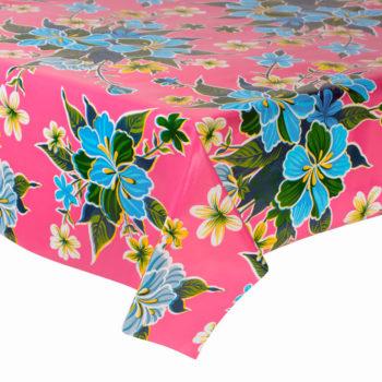 Hule hibisco rosa - diseño floral