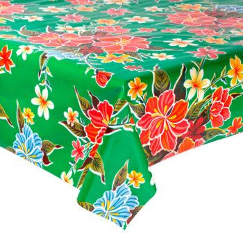 Hule mexicano modelo hibisco verde