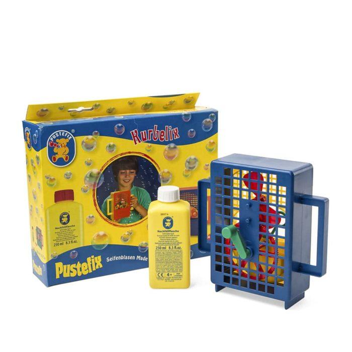 Máquina de burbujas de jabón de marca Pustefix