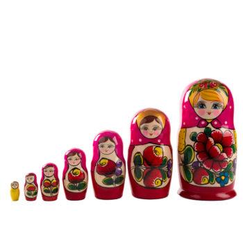 Matrioska original rusa de 7 piezas