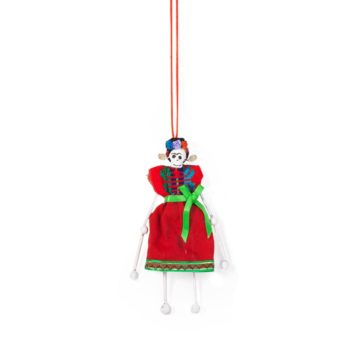 Muñeca artesanal hecha a mano en México con forma de Frida