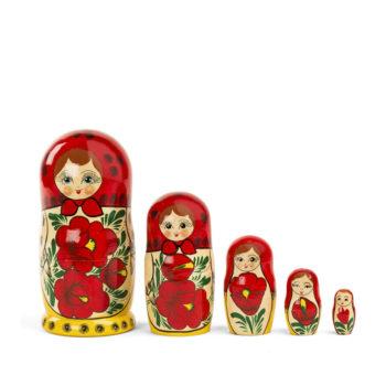 Muñeca matrioska 5 piezas Semenovskaya