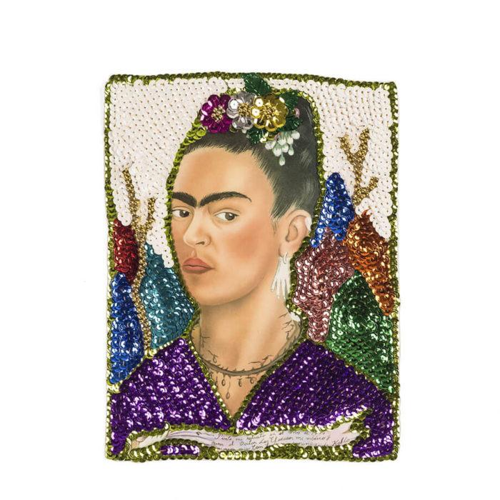 Parche lentejuelas Frida