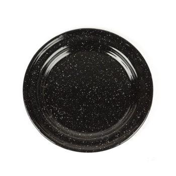 Plato esmaltado negro