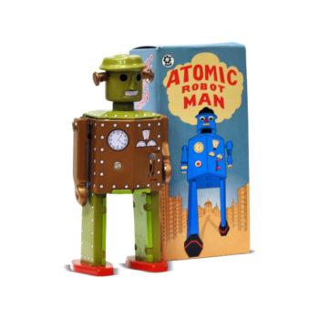 Robot a cuerda juguete estilo retro para coleccionista
