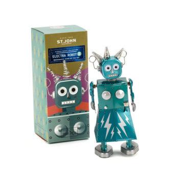 Mechanical female robot named Electra