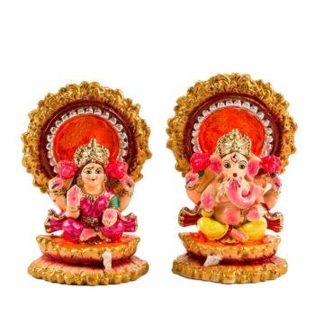Set dos figuras Lakshmi Ganesha