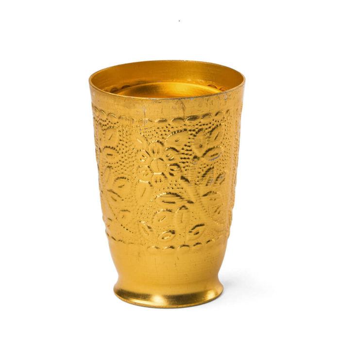 Vaso aluminio dorado