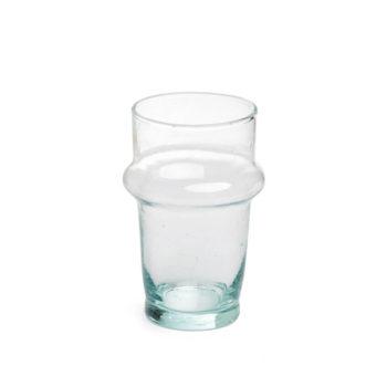 vaso beldi de cristal reciclado hecho en Marruecos