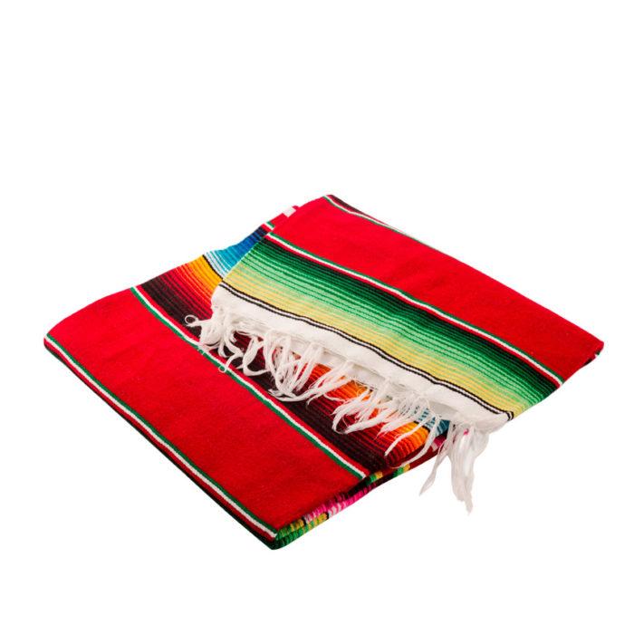 Zarape o manta mexicano de diversos colores para la decoración de tu casa
